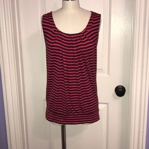 Black and Pink Striped Top